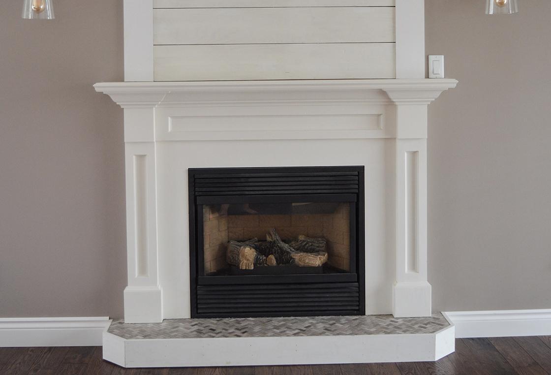 fireplace corbel renovation